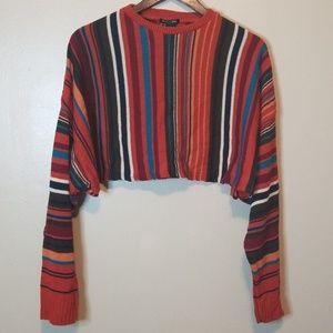 Nasty Gal Striped Crop Top Sweater